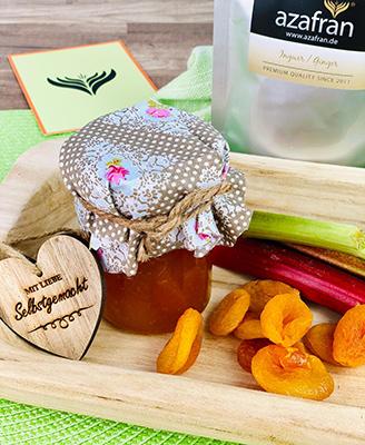 Aprikosen-Rharbarber-Marmelade Tüte