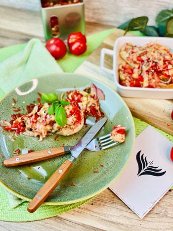 Hähnchen-mit-Bruschetta-Rezept