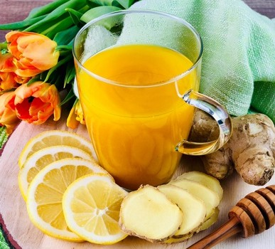 Ingwer-Zitronen Tee mit Kurkuma (Immun Booster)