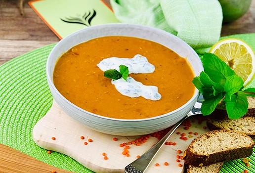 Linsen-Kokos Suppe 1