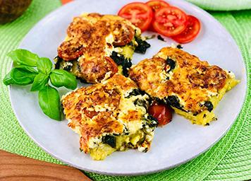 Polenta Spinat und Käse 2 Beitragbild