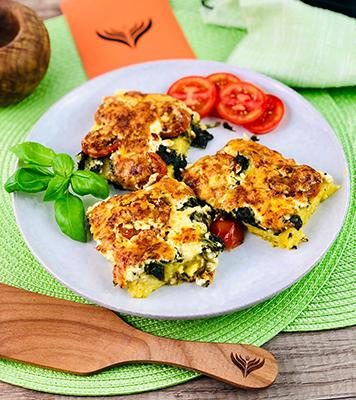 Polenta Spinat und Käse 2 mini