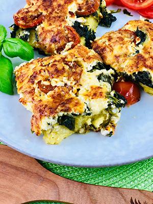 Polenta Spinat und Käse 4 mini
