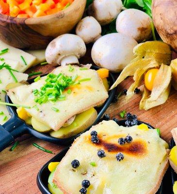 Raclette mit Kartoffeln