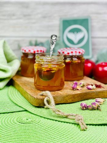 Rosen-Apfel-Gelee-mit-Safran-Rezept-2