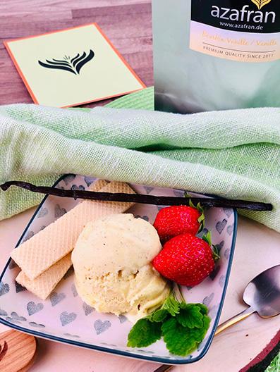 Vanille-Milcheis Tüte