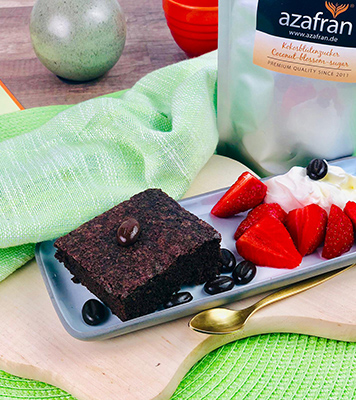 Veganer Schoko-Espresso-Brownie Tüte