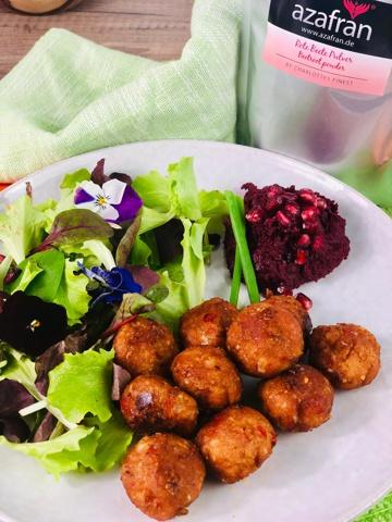 bulgurbällchen mit rote bete hummus rezept